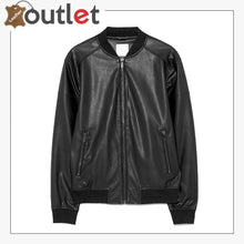 Load image into Gallery viewer, New Style Black Leather Bomber Jacket