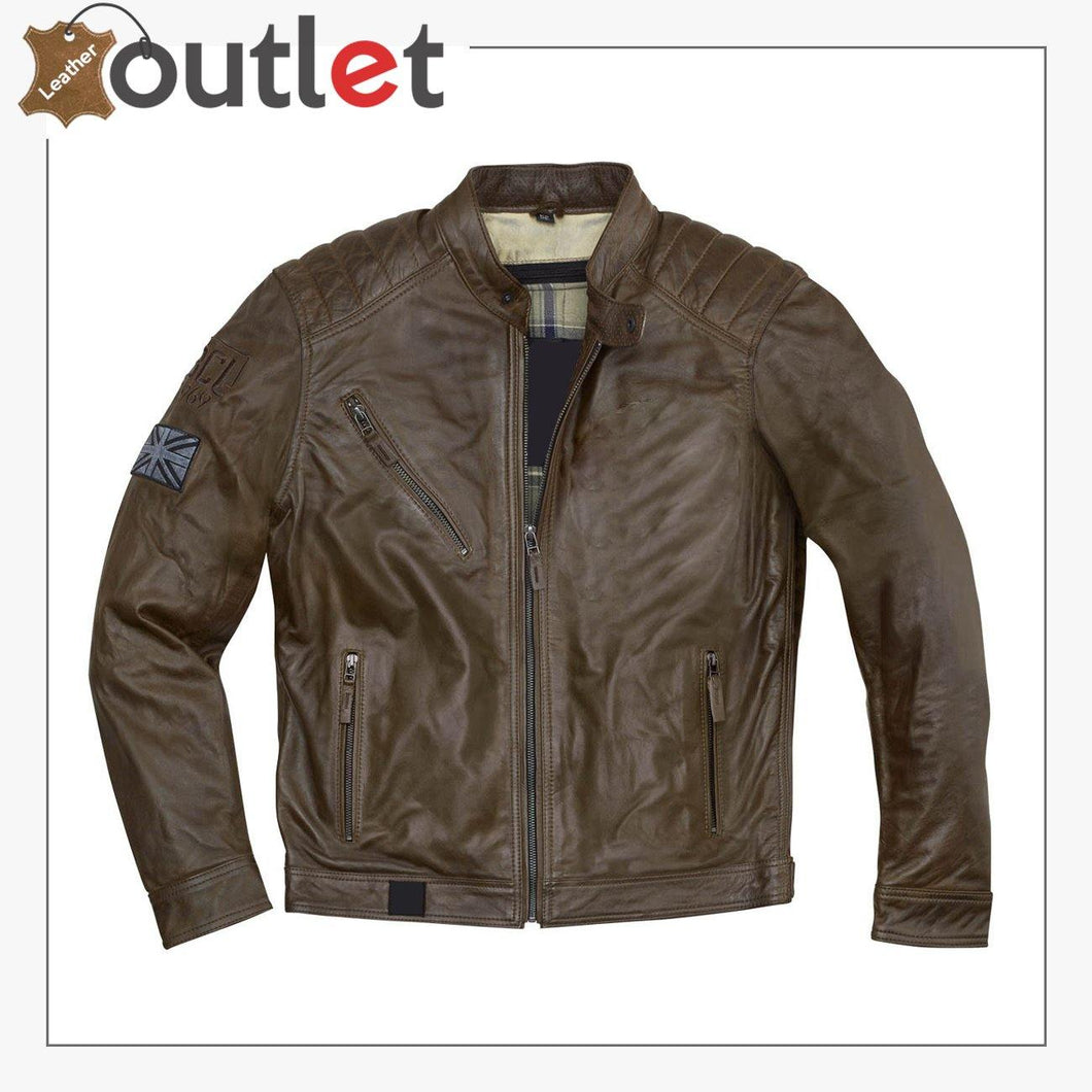 New Style Houston Motorcycle Leather Jacket