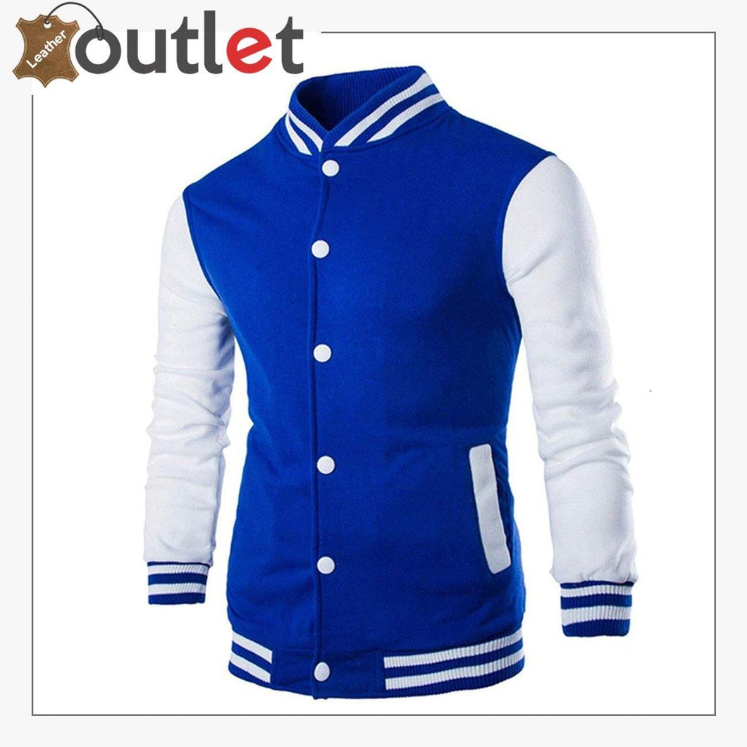 New Styles Leather Varsity jacket For Men