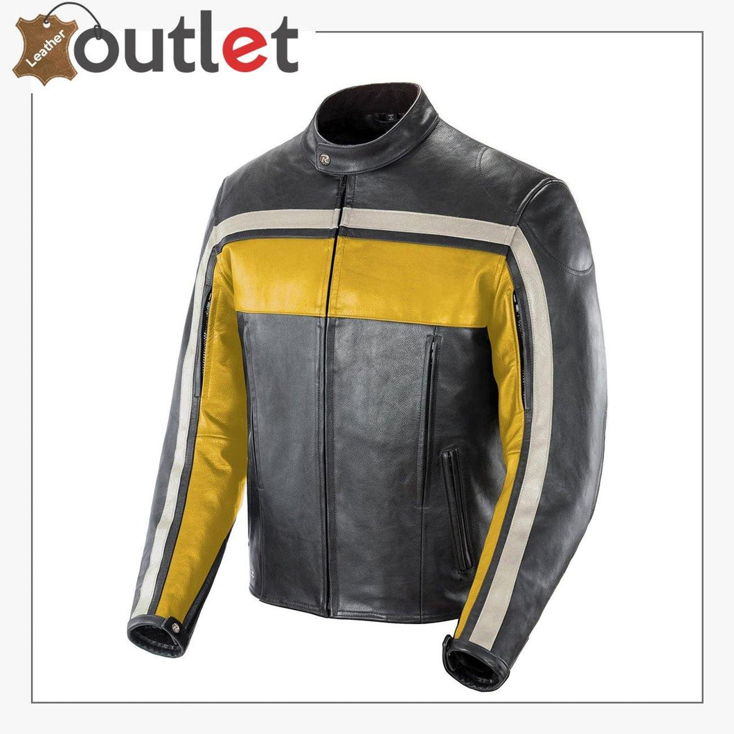 Old School Fashion Leather Jacket For Men