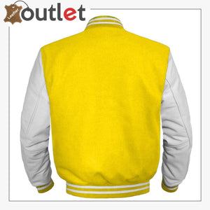 Original American Varsity White Leather jacket For Women