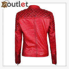 Load image into Gallery viewer, Premium Lambskin Leather Bomber Jacket For Women