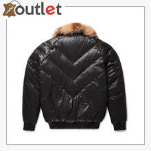 Load image into Gallery viewer, Premium Quality V-Bomber Nylon Black Crystal Fox Fur