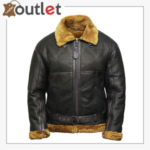 Real B3 Bomber Leather Jacket for Men