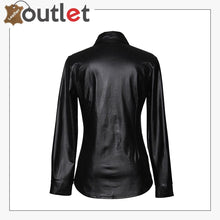 Load image into Gallery viewer, Real Black Leather Shirts For Women