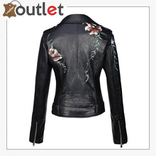 Load image into Gallery viewer, Real Black Leather studded jacket For Women
