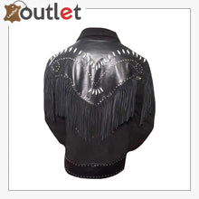 Load image into Gallery viewer, Real Black Western Leather Jacket For Men