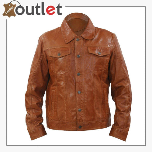 Real Brown Leather Shirt For Women