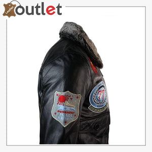 Real Leather US Aviator Air Force Pilot Flying Bomber Jacket
