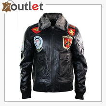 Load image into Gallery viewer, Real Leather US Aviator Air Force Pilot Flying Bomber Jacket