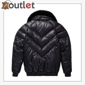 Real Quality V-Bomber Nylon Black Black Fox Fur
