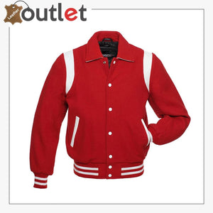 Red Original Leather Varsity Letterman Jackets