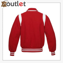 Load image into Gallery viewer, Red Original Leather Varsity Letterman Jackets