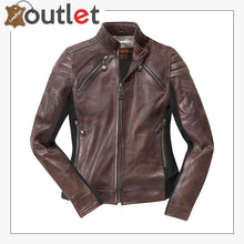 Load image into Gallery viewer, Semnan Ladies Motorcycle Leather Jacket