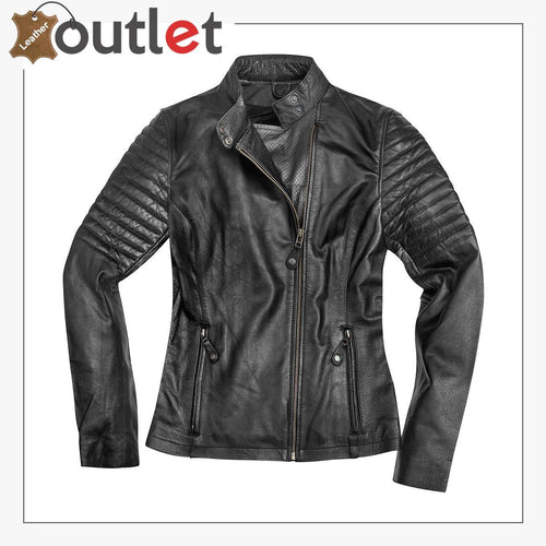 Shona Ladies Motorcycle Leather Jacket for Womens
