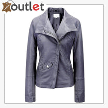Load image into Gallery viewer, Signature Bow Hoodie Leather Bomber Jacket For Women