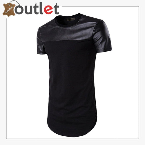 Slim Fit Black Leather Shirt For Women