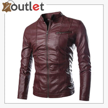Load image into Gallery viewer, Slim Fitt Fashion Leather Jacket For Men