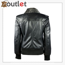 Load image into Gallery viewer, Sundance Shearling Black Bomber Womens Leather Jacket