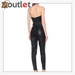 Unique Style Leather skinny pants