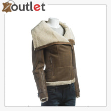 Load image into Gallery viewer, Women Oversize Fur Collar Leather Jacket
