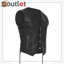 Load image into Gallery viewer, Waistcoat Motorcycle Motorbike Leather Vest