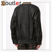 Load image into Gallery viewer, Web Collar Womens Leather Bomber Jacket