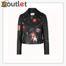 Load image into Gallery viewer, Women Fashion Printed Leather Jacket