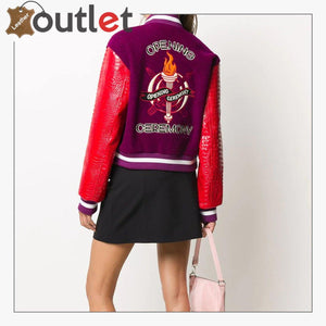 Women New Sateen Bomber Varsity Jacket