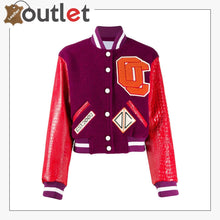 Load image into Gallery viewer, Women New Sateen Bomber Varsity Jacket