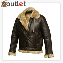 Load image into Gallery viewer, Women RAF B3 Pilot Winter Real Shearling Sheepskin Leather Bomber Aviator Jacket