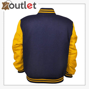 Women Varsity Jacket Genuine Leather