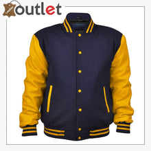 Load image into Gallery viewer, Women Varsity Jacket Genuine Leather