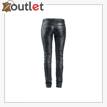 Load image into Gallery viewer, High-rise flared leather pants