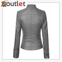 Load image into Gallery viewer, Womens Removable Hooded Faux Leather Moto Biker Fashion Jacket