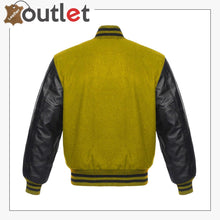 Load image into Gallery viewer, Wool & Leather Letterman Varsity Jacket for Womens - Leather Outlet