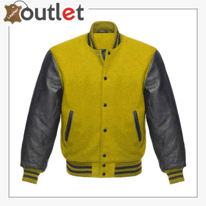 Wool & Leather Letterman Varsity Jacket for Womens - Leather Outlet