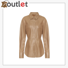 Load image into Gallery viewer,  Hattie faux leather shirt