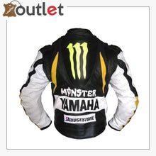 Load image into Gallery viewer, Yamaha Motorbike Leather Racing Jacket