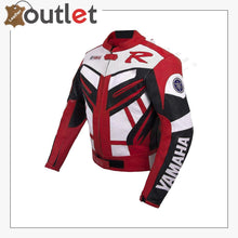 Load image into Gallery viewer, Yamaha Red Racing Leather Jacket