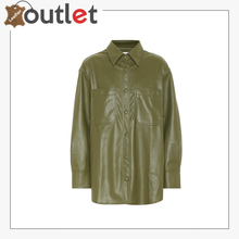 Load image into Gallery viewer, Yoyo faux leather shirt