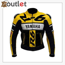 Load image into Gallery viewer, yamaha yzf r6 yellow black motorbike safety pads jacket