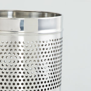Parasnath Stainless Steel Half Perforated Dustbin, 6L - 7 X 11 Inch - PARASNATH MADE IN INDIA