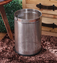 Load image into Gallery viewer, Parasnath Stainless Steel Perforated Round Dustbin, 8L - 8 X 13 Inch - PARASNATH