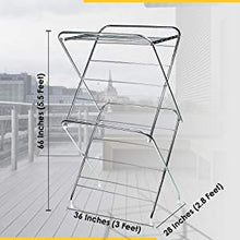 Load image into Gallery viewer, PARASNATH Prime Stainless Steel 12 Rods Extra Large Foldable Cloth Dryer/Clothes Drying Stand - Made in India - PARASNATH