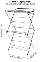Load image into Gallery viewer, PARASNATH Prime Stainless Steel 15 Rods Extra Large Foldable Cloth Dryer/Clothes Drying Stand - Made in India - PARASNATH MADE IN INDIA