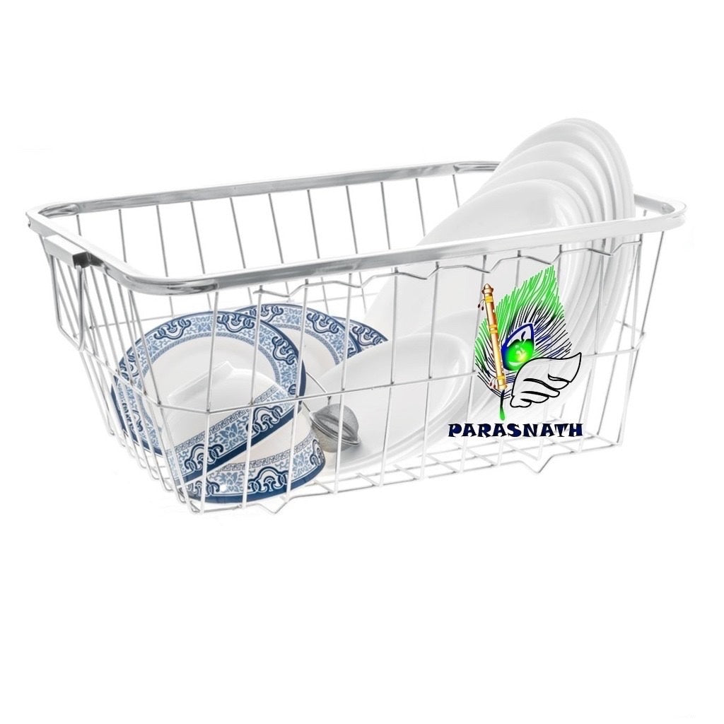 PARASNATH Stainless Steel Dish Drainer N0.3 Tokra Large (60 Cm X 48 Cm X 18 Cm) - PARASNATH MADE IN INDIA