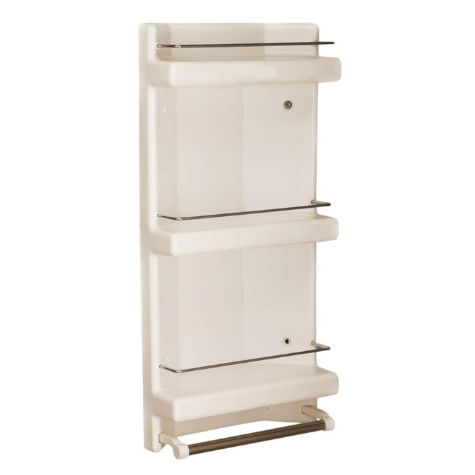 Parasnath Prince Bathroom Corner Cabinet Shelf with Towel Stand - PARASNATH MADE IN INDIA