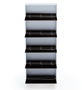 Parasnath BrownWhite Wall Shoe Rack 5 Shelves Shoes Stand - PARASNATH
