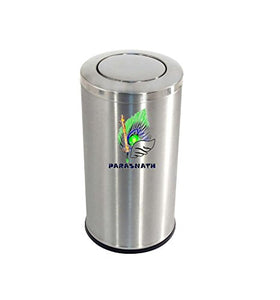 "Parasnath Stainless Steel Swing Dustbin, Swing Garbage Bin 10 Litre 8""x12"" - PARASNATH MADE IN INDIA"